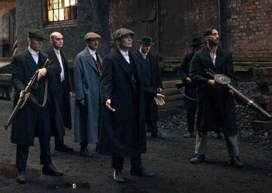 Peaky Blinders gang in Stanley Dock